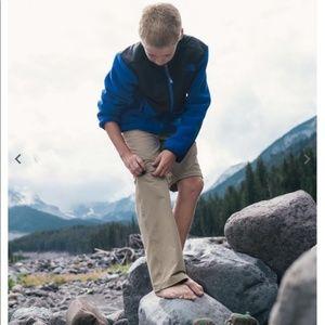 The North Face convertible hiking pants shorts L